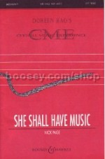 She Shall Have Music SS & piano