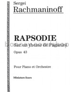 Rhapsody on a Theme of Paganini Op. 43 (pocket score)