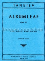 Album Leaf Op. 33 Vla/Piano
