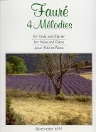 4 Melodies For Viola/Piano