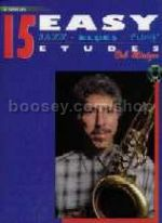 15 Easy Jazz Blues and Funk Etudes Tenor Sax (Book & CD)