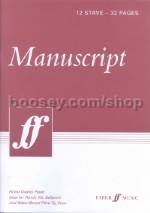 White Manuscript Book: 12 stave 32 pages