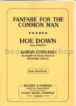 Fanfare for the Common Man/Hoe Down Brass Band Parts