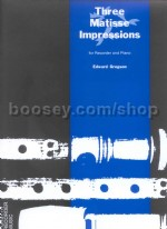 Three Matisse Impressions for treble recorder & piano