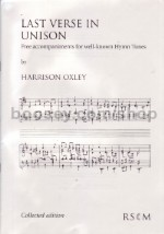 Last Verse In Unison Collected Edition Organ