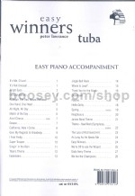 Easy Winners for Tuba (Bass Clef) (Piano Accompaniment)