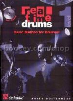 Real Time Drums Basic Method for Drumset Level 1 (Book & CD)