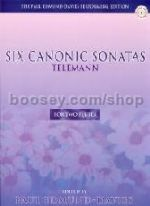 Canonic Sonatas (6) 2 Flutes (Book & CD)