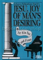 Jesu Joy of Man's Desiring Alto Sax/Piano