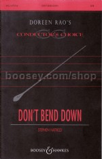 Don't Bend Down SATB & piano
