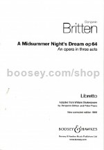 A Midsummer Night's Dream, op. 64 - libretto