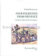 Four Folksongs from Provence for baritone horn & piano (bass/treble clef)