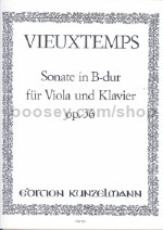Sonata in Bb for Viola & Piano Op. 36