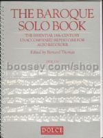 The Baroque Solo Book for recorder
