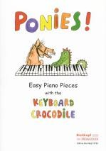 ponies easy piano pieces with keyboard crocodile