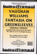 Fantasia on 'Greensleeves' (original set)