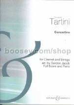 Concertino for Clarinet & Strings (score & parts)