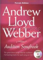 Andrew Lloyd Webber Audition Songbook Female + CD