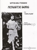 Acrostic Song (from Final Alice) SATB & soprano