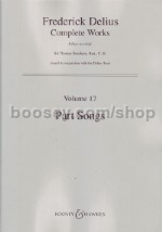 Part Songs SATB & piano