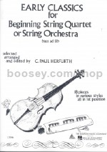 Early Classics for Beginners String Quartet or String Orchestra