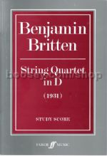 String Quartet No.1 in D major (score)
