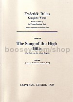 Collected Edition of the Works of Frederick Delius vol.11b: Song Of The Hills (study score)