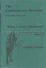 Three Concert Miniatures for recorder & piano