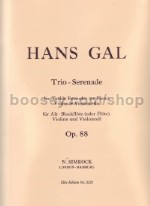 Trio Serenade Op. 88 Rec/ Violin /cello Score & Parts