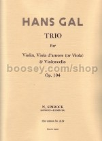 String Trio In Amajor Op. 104 Score