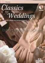 Classics For Weddings Clarinet (Book & CD)