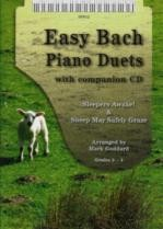 Easy Bach Piano Duets (Book & CD)