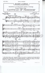 Canticle of Freedom SATB & piano