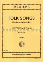42 Folk Songs Vol. 2 (Deutsche Volkslieder) (High Voice) German/English