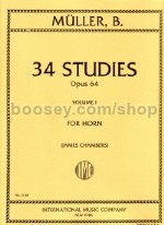 34 Studies, Op. 64, vol.1 (ed. James Chambers) for horn
