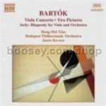 Viola Concerto, BB 128 Sz. 120 (P. Bartok + Serly ed.)/Two Pictures (Op.10) Sz. 46 (Naxos Audio CD)