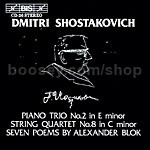 Romances (7) on Verses by Alexander Blok Op 127 for voice & piano trio/PianoTrio No.2 (BIS Audio CD)
