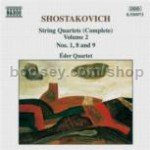 String Quartets Nos. 1, 8 & 9 (Naxos Audio CD)