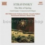 Le Sacre du Printemps (Rite of Spring)/Jeu de Cartes (Card Game)/Concerto in D (Naxos Audio CD)