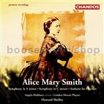 Symphony in A minor/Andante for Clarinet and Orchestra/Symphony in C minor (Chandos Audio CD)
