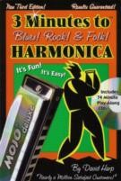 3 Minutes To Blues Rock & Folk Harmonica (Book & CD)