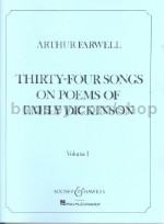Thirty-Four Songs On Poems Of Emily Dickinson Vol1
