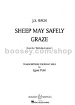 Sheep May Safely Graze Arr. Petri E. piano