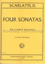 Four Sonatas Clarinet & Piano