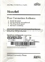 Four Coronation Anthems (Set of wind parts) SATB & orchestra