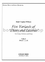 Variants (5) on 'Dives and Lazarus' (cello 1 part)