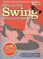 Play Along Swing With A Live Band Trumpet Bk/CD