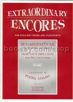 Extraordinary Encores Vol. 1 for recorder & piano