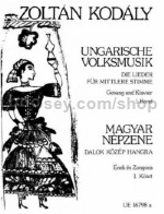 Kodaly Hungarian Folk Music Vol 1 Med Voice & Pf