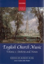 English Church Music Vol.1 - Anthems & Motets SATB